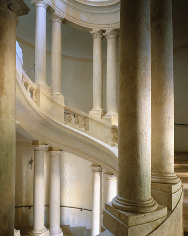 Interior View of a Stairway at the Palazzo Barberini