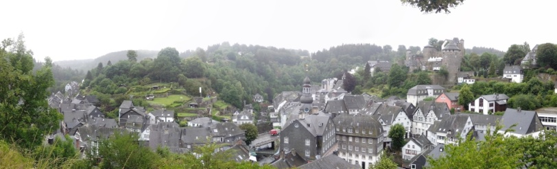 Panorama of the Altstadt and the Castle of Monschau