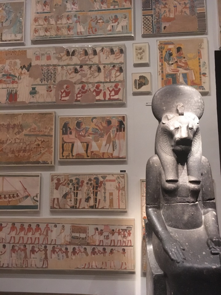 Met-Egyptian fresco & statue