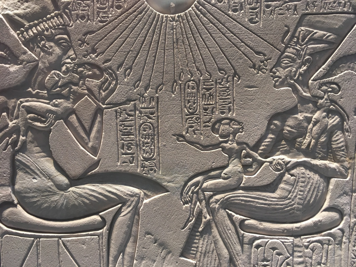#22. Akhenaten, Nefertiti, and three daughters
