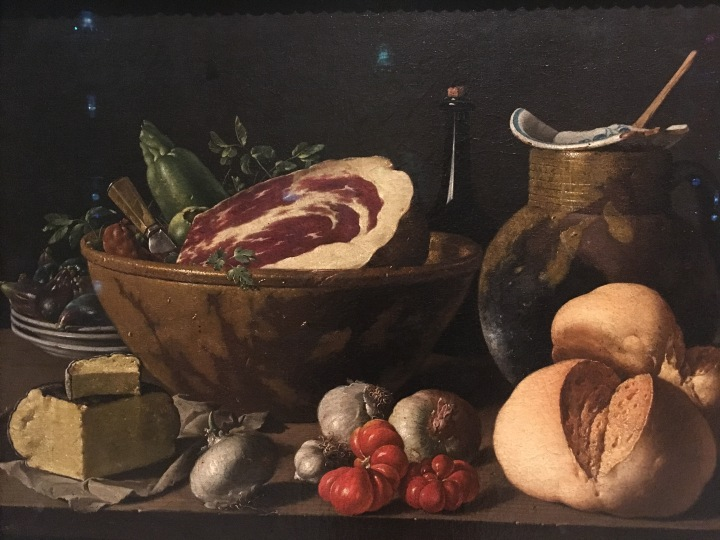 MFA-Still Life with Bread, Ham, Cheese, and Vegetables, Luis Melendez, 1772