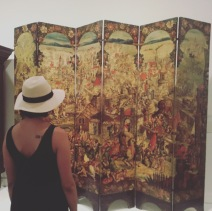 Screen with the Siege of Belgrade and Hunting Scenes-with my back