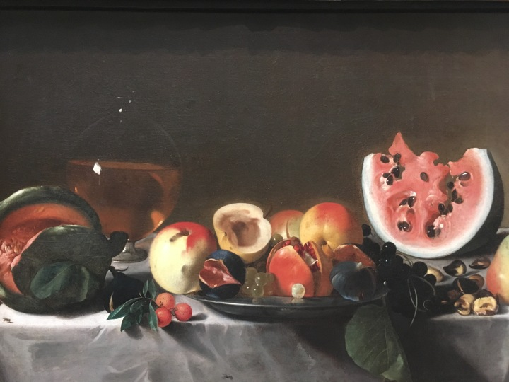 Still Life with Fruit and Carafe, Pensionante del Saraceni, c. 1610-1620