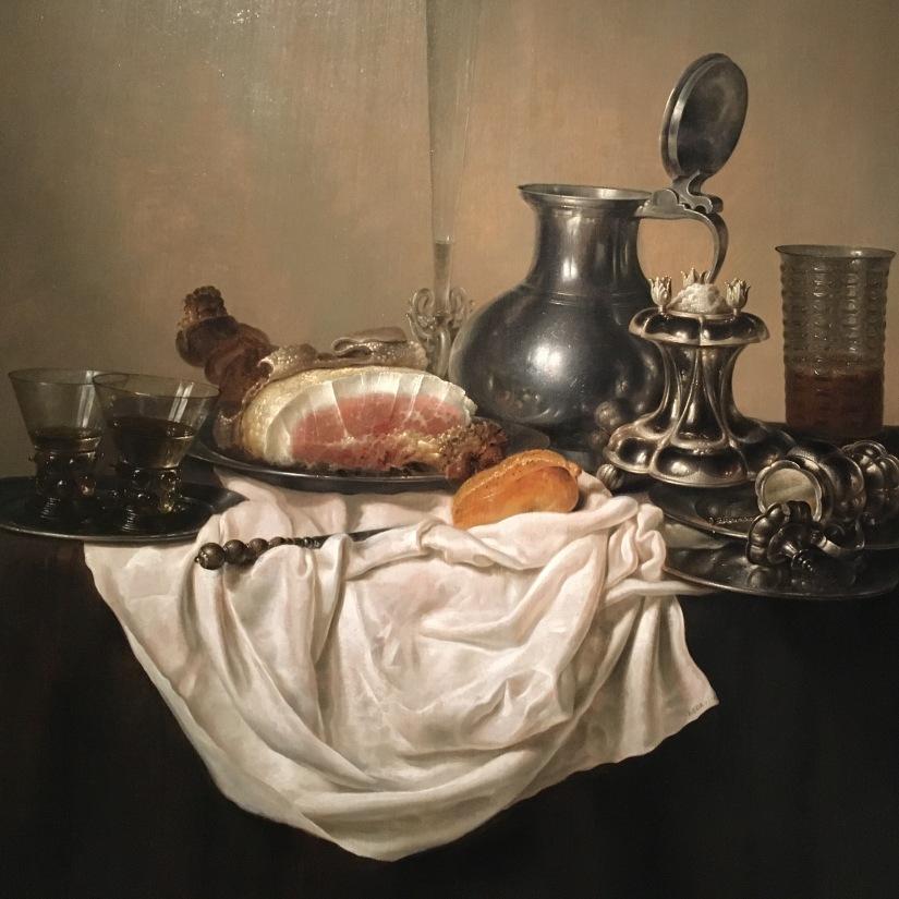 Still Life with Ham, Gerrit Willemsz. Heda, 1650