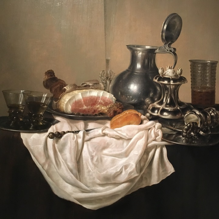 Still Life with Ham, Gerrit Willemsz. Heda, 1650