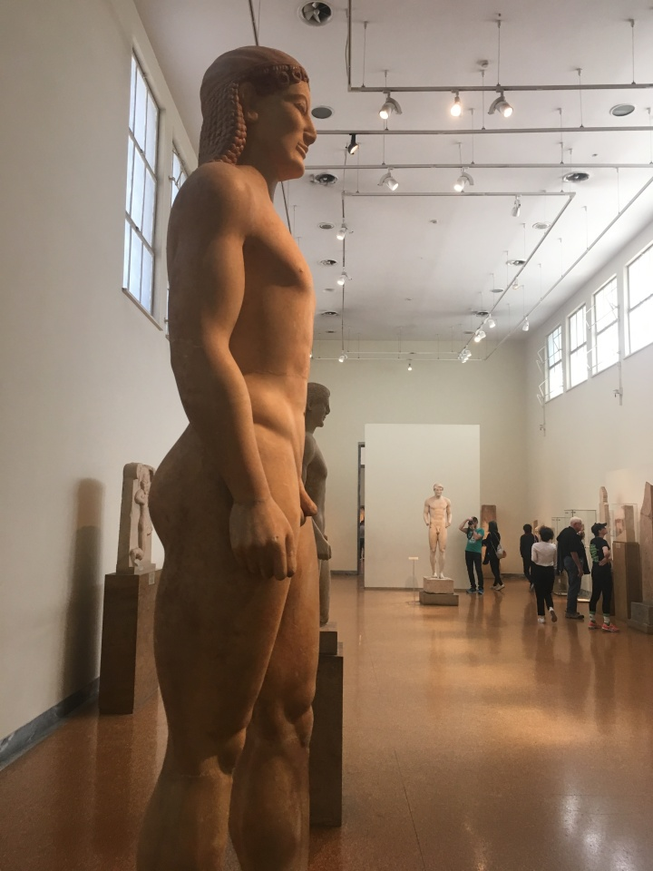 Anavysos Kouros side view