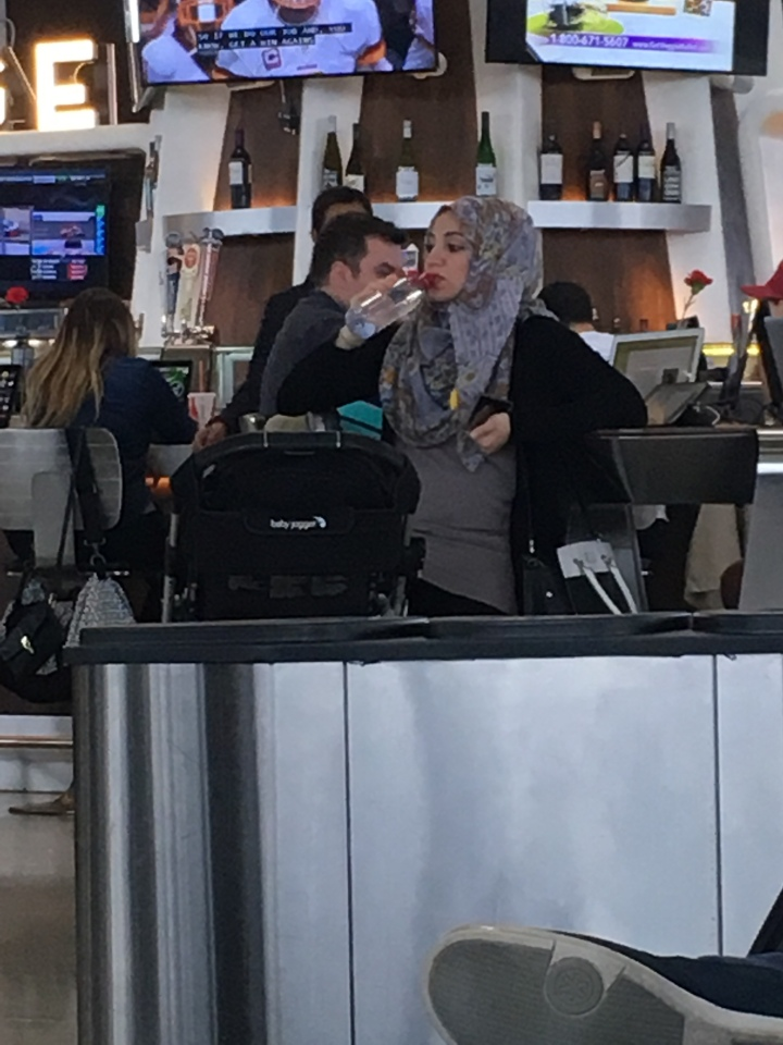 hijab in airport
