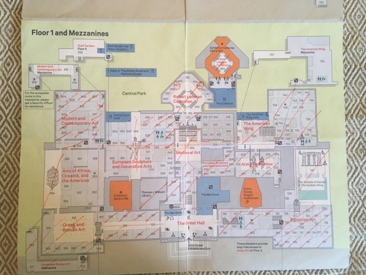Met Museum map-1st floor