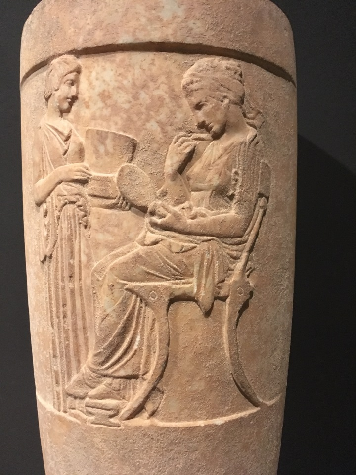 MFA-Greek vase with noble woman
