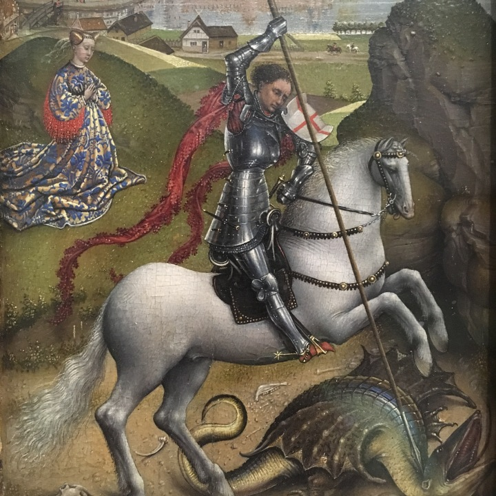 NGA-Rogier van der Weyden, St George and the Dragon, 1432-1435