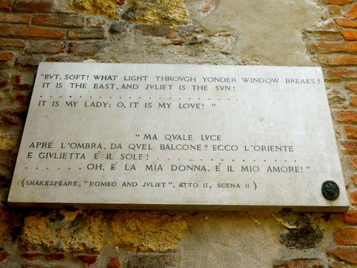 Romeo & Juliette quote, Verona